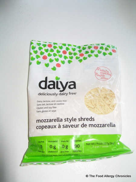 A package of Daiya Mozzerella Style Shreds