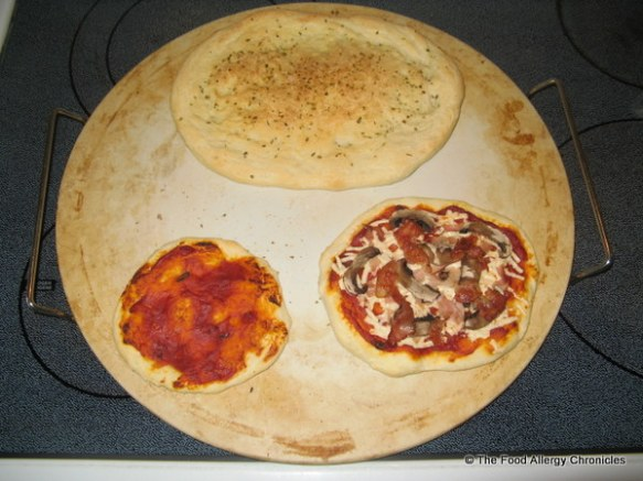 Leftover pizza dough makes extra pizzas for the next day
