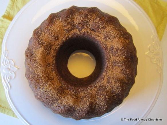 Dairy, Egg, Soy and Peanut/Tree Nut Free Banana Bundt Cake