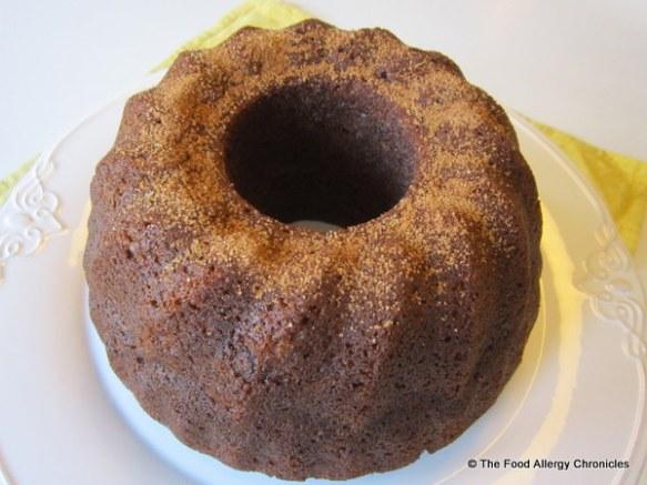 Sugar Free Banana Nut Bundt Cake