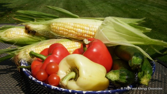 Fresh veggies for the corn salad