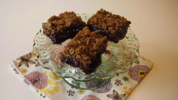 dairy free blueberry squares on plate