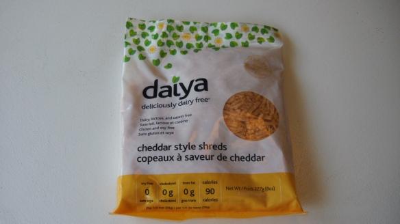 a package of daiya cheddar style shreds
