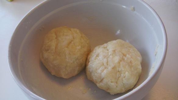 2 balls of canola oil pastry dough