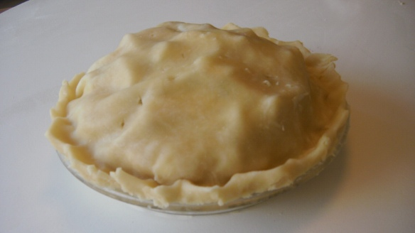 apple pie with canola oil pastry ready for the oven