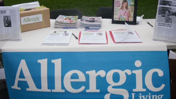 allergic living magazine's table at the walk to axe anaphylaxis oct 16 2011