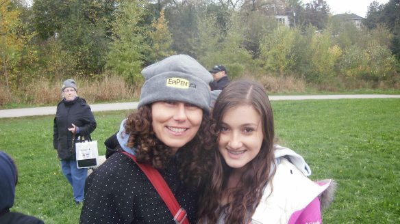 myself and sophie nisker(founder) at the walk to axe ananphylaxis oct 16 2011