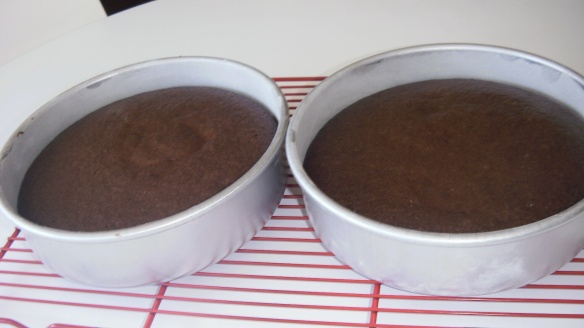 baked dairy, egg and soy free chocolate cakes on cooling rack