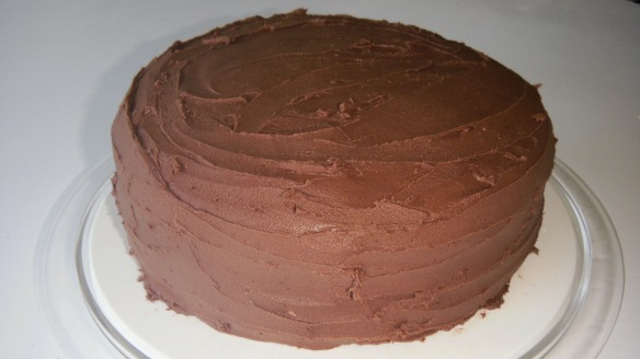 dairy, egg and  free chocolate cake with dairy free chocolate icing