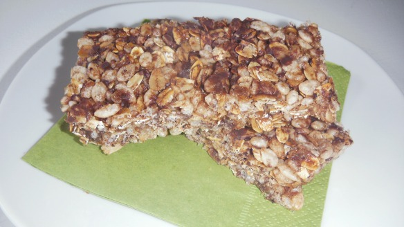 dairy, sesame, peanut/tree nut free granola bars on a plate