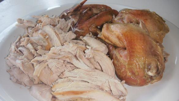 sliced roast turkey on a platter