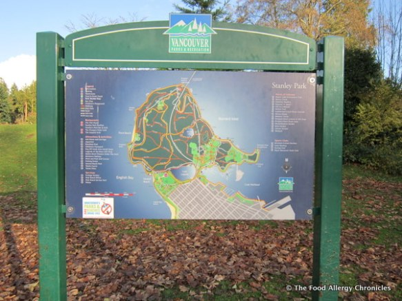 Stanley Park map in vancouver