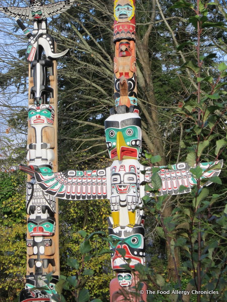 First Nations Totem Poles at Stanley Park