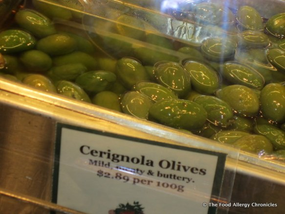 amazing olives at the Public Market, Granville Island, Vancouver