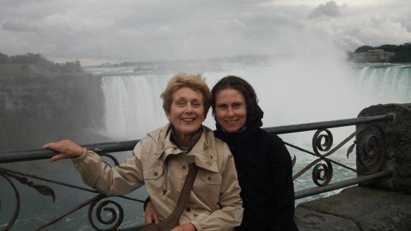 mom and I at Niagara Falls, Ontario