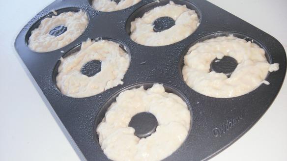 dairy,egg,soy,peanut/tree nut free doughnut batter in Wilton doughnut pan