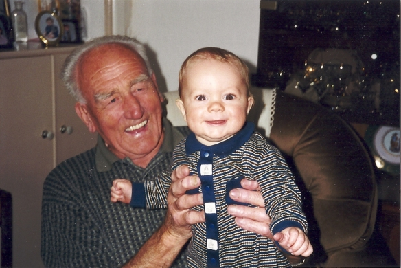 Papa and Matthew, July 1999 in Motherwell Scotland