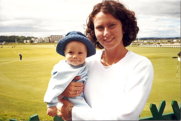 matthew and me, july 1999, st. andrew's 18th hole, Scotland