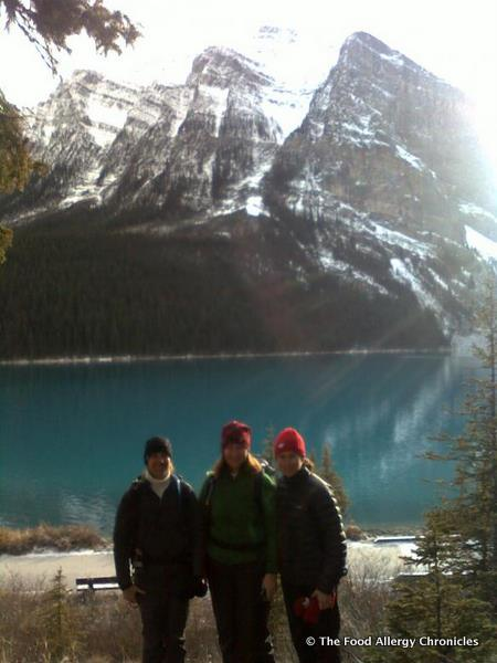 susan h. and her friends at Lake Louise