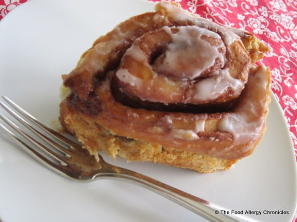 dairy,egg,soy and peanut/tree nut free cinnamon bun
