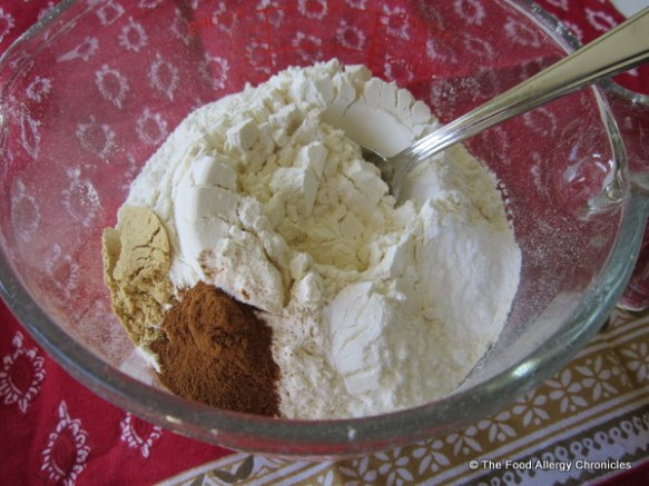 dry ingredients for dairy,egg and peanut/tree nut free gingerbread