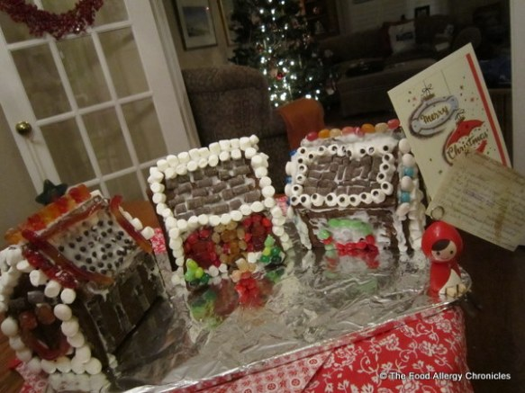 dairy,egg and peanut/tree nut free gingerbread houses