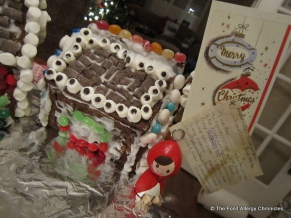 Michael's decorated dairy,egg and peanut/tree nut free gingerbread house