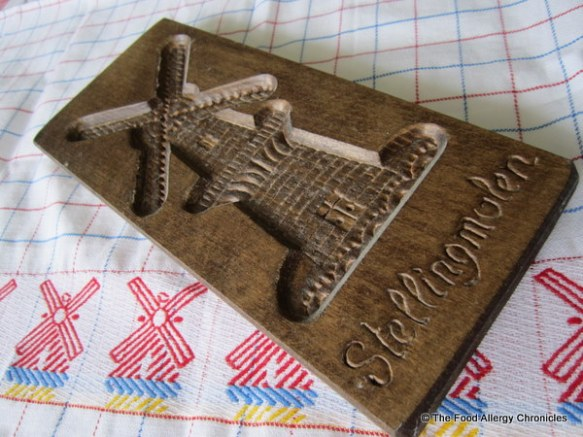 carved wooden mold for speculaas cookies