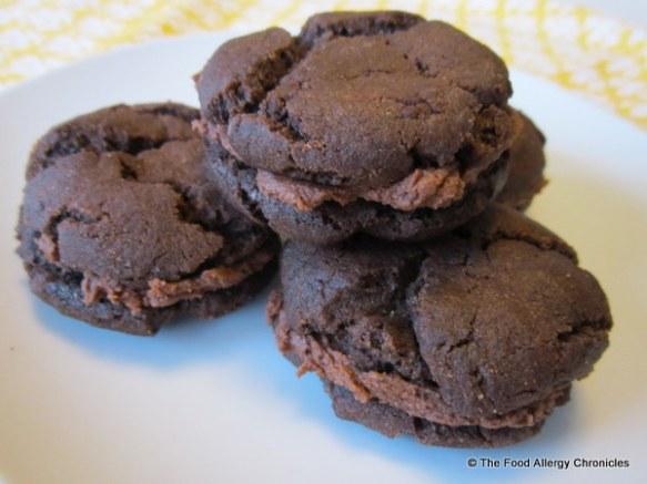 dairy, egg and peanut/tree nut free fudgeo style cookies