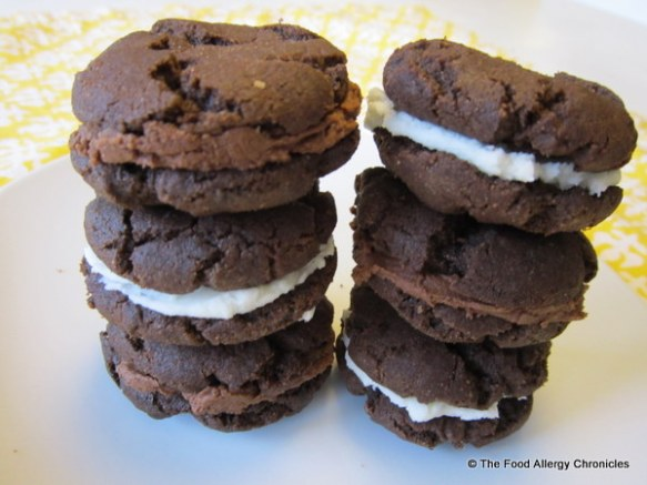 dairy, egg and peanut/tree nut free oreo and fudgeo style cookies