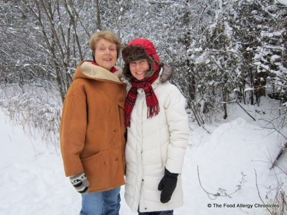 mom and I out for a winter wonderland walk, ottawa, 2011