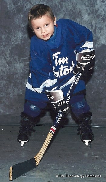 michael's first year playing hockey