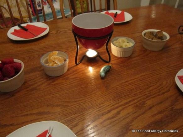 guardian angel chocolate fondue night