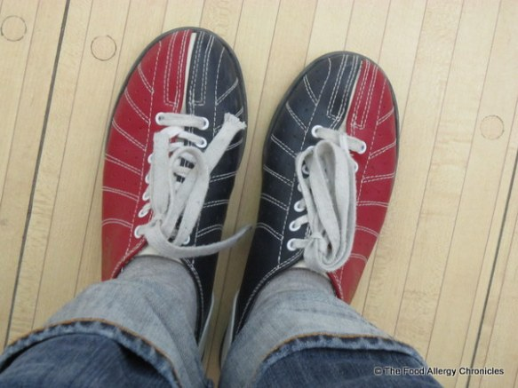 my fancy bowling shoes