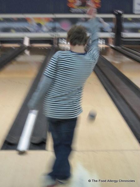 Matthew bowling at Neb's