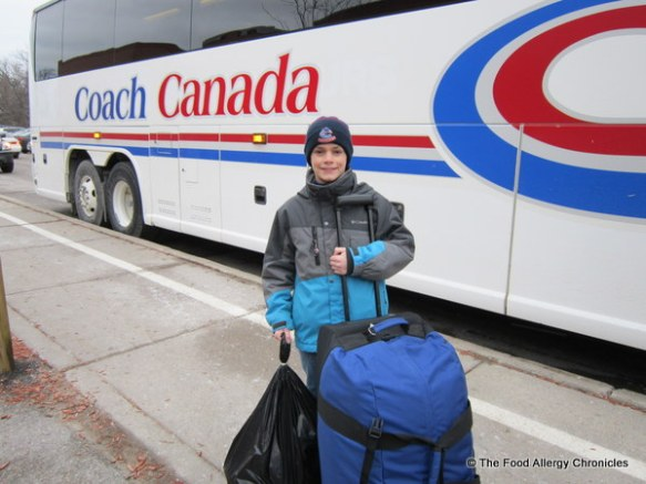 matthew off to camp muskoka by bus