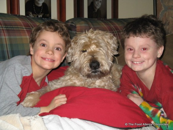 michael and matthew with chester