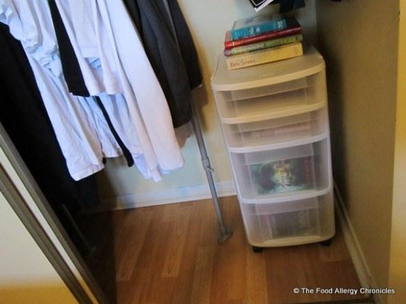 Michael's decluttered closet