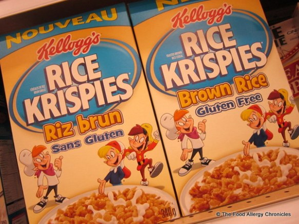 discovered gluten free rice krispies by kellog's at the grocery store today