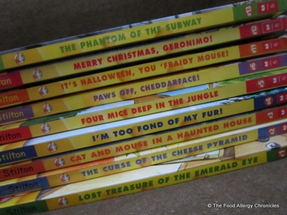 a series of Geronimo Stilton books to donate