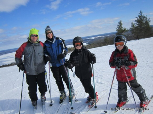 my brother's family at calabogie ski resort
