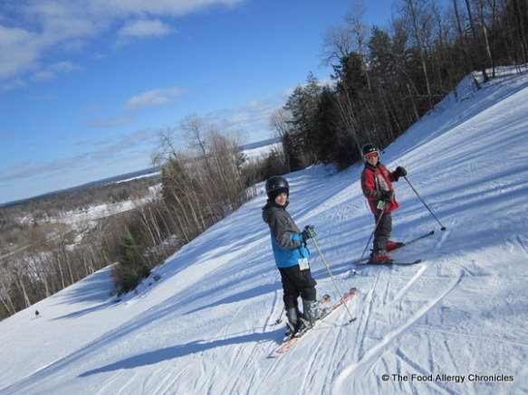 Matthew and Lukas on the ski hill