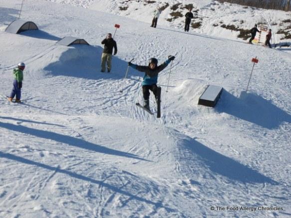 Matthew on the ski jump