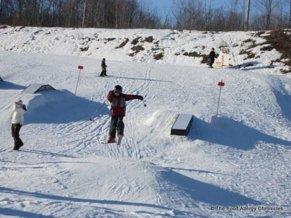 Lukas on the ski jump