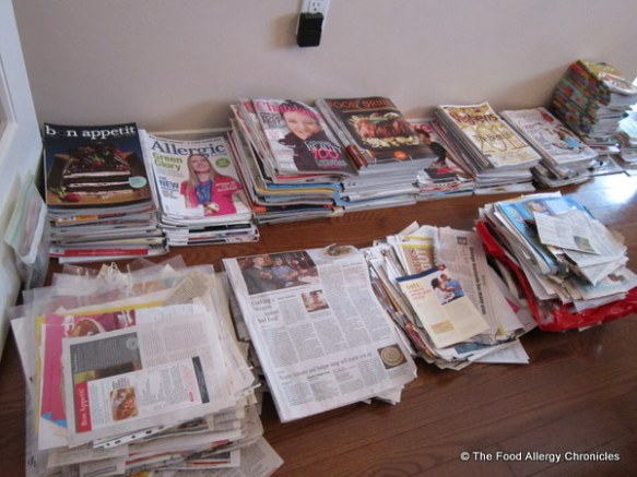 magazines and clippings for productivity challenge