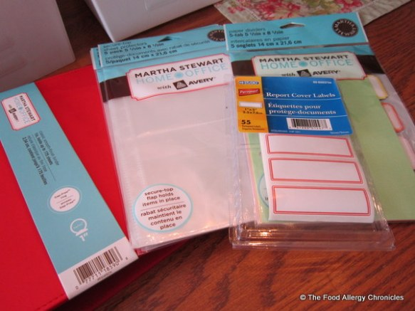 Martha Stewart Home Office supplies and dollar store labels