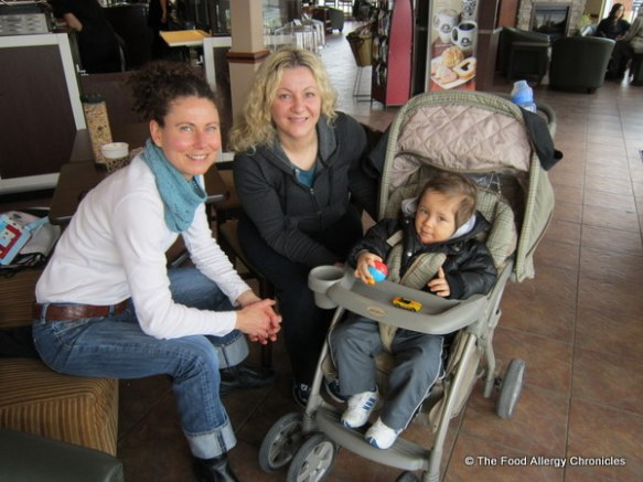 Myself, Luba and her son out for a coffee and a chat