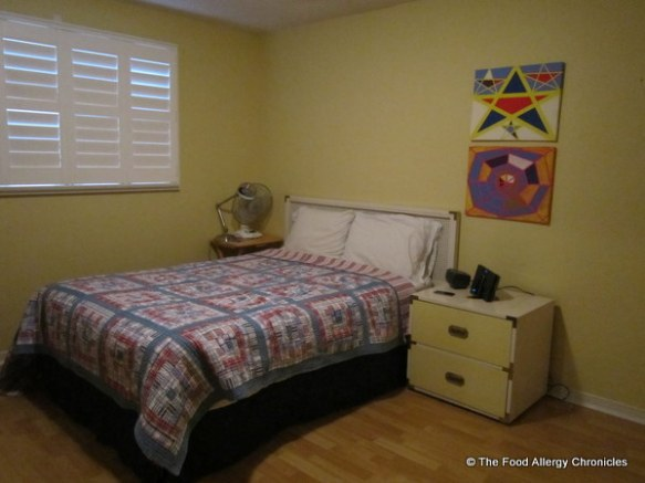 Michael has the guest room double bed and furniture