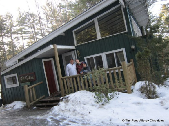 Our 'little cabin in the woods' at the Golden Eagle Resort, Stowe, Vermont