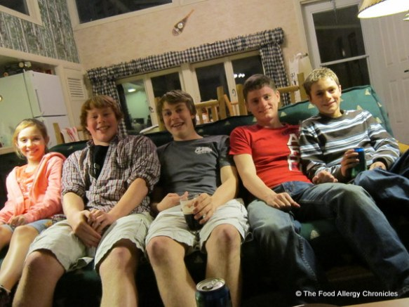 the boys with their american cousins